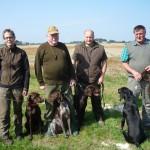 Führer mit ihren Hunden