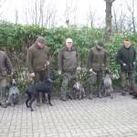 Teilgenommene Hunde mit ihren Führern