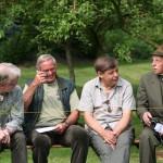 fröhliche  Runde mit dem Ehrenmitglied Heinrich Siemers (ganz rechts)