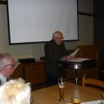 Eröffnung der Versammlung durch den 1. Vorsitzenden Rolf Tappe